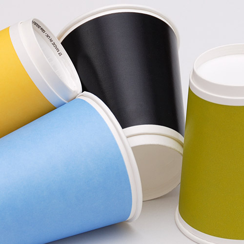 colour co-ordinated cups