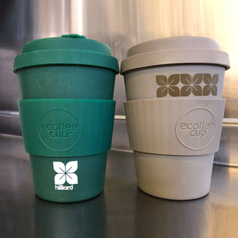 Hilliard branded reusable cups